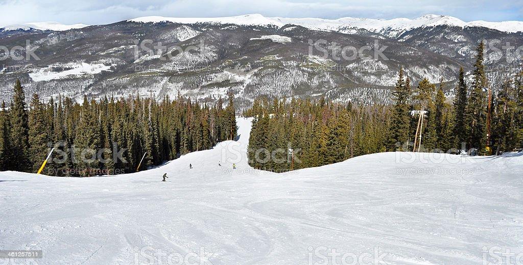Ski Slope - Keystone, Summit County Rocky Mountains stock photo