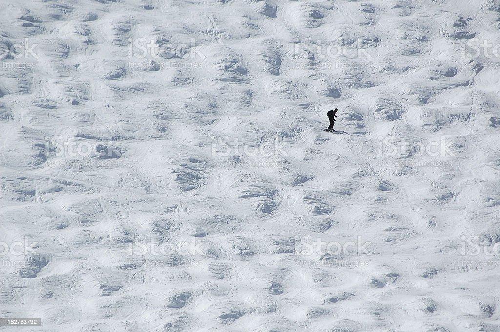 Ski Slope Lone Skier stock photo