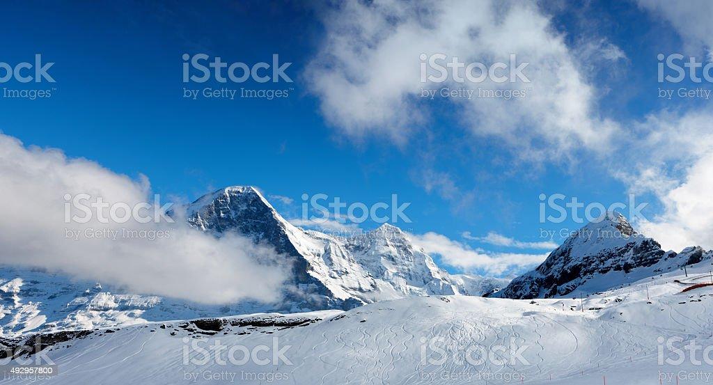 Ski slope. stock photo