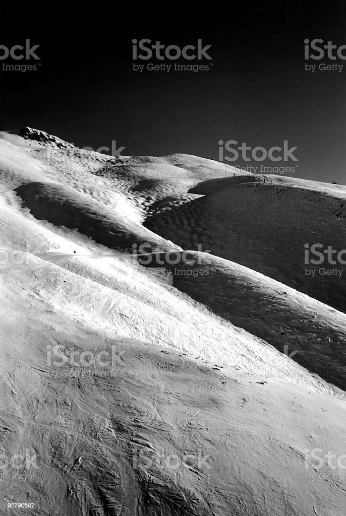 Ski Slope (moonlike) royalty-free stock photo