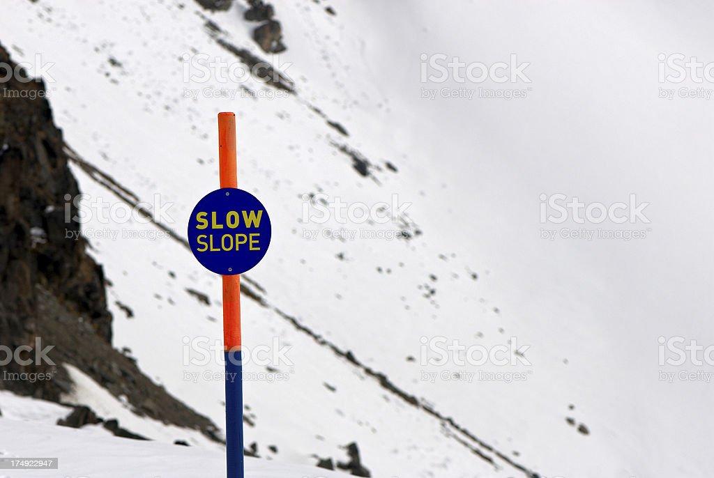 Ski slope sign stock photo