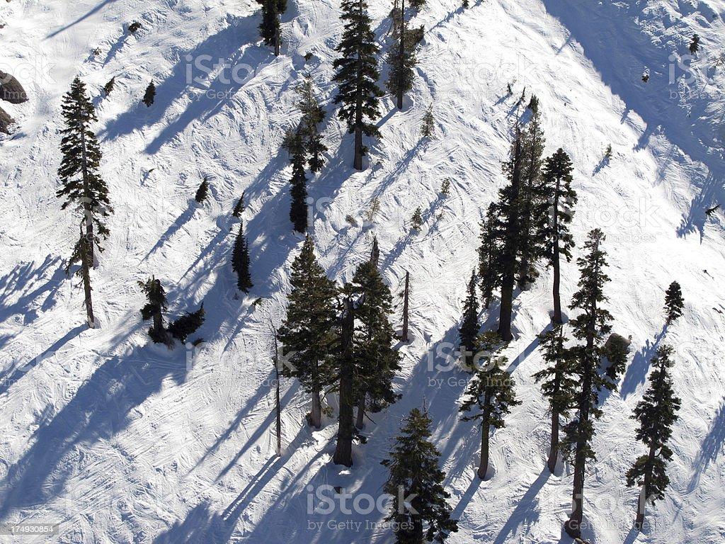 Ski Slopes from Above royalty-free stock photo