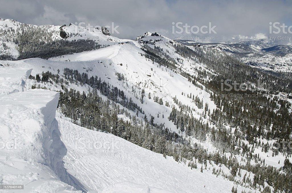 Ski slopes in mountains royalty-free stock photo