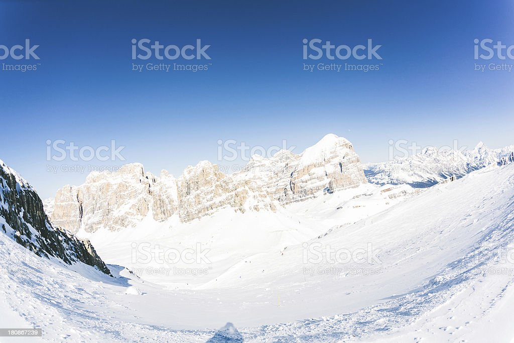 Ski Slopes in the Italian Alps royalty-free stock photo