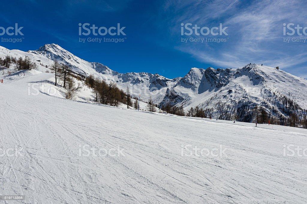 Ski slopes in the Via Lattea stock photo