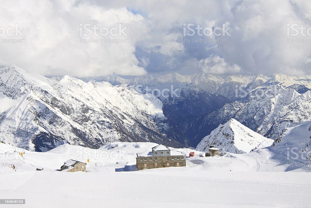 ski slopes, pass Salati stock photo