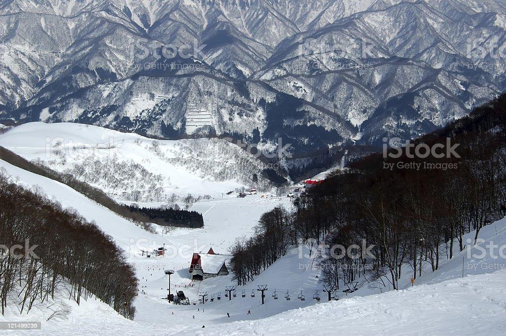 Ski Slopes royalty-free stock photo