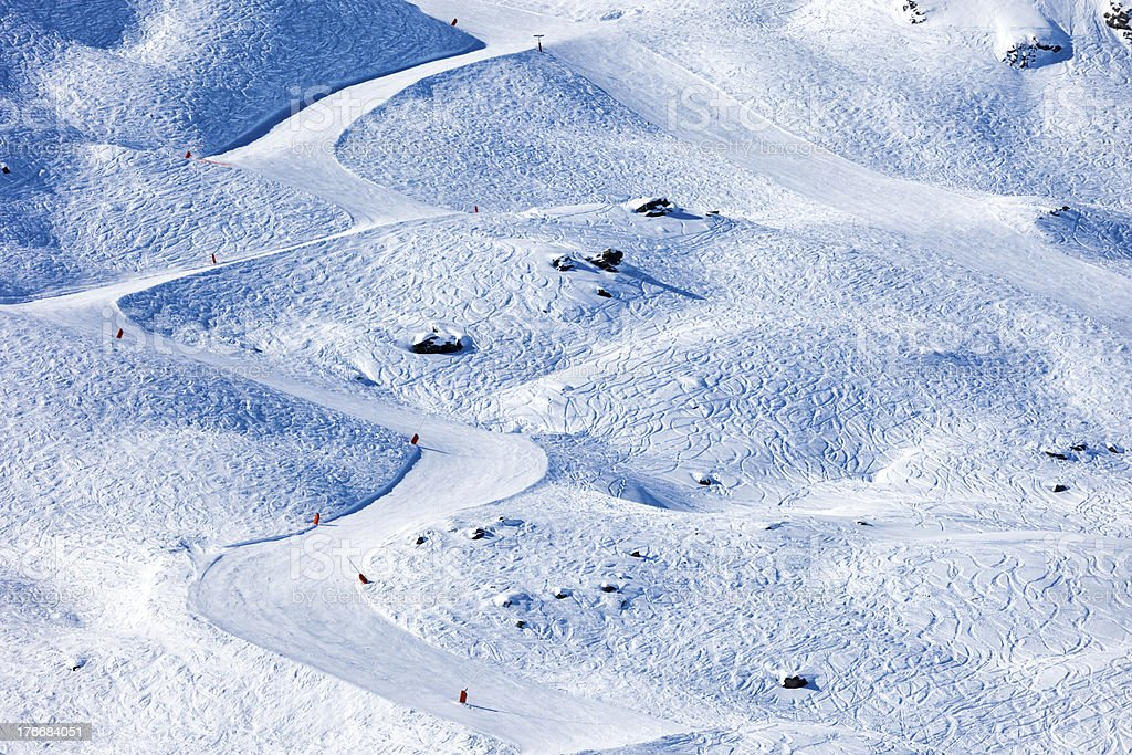 Ski slopes stock photo