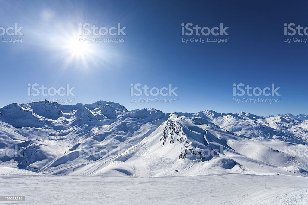 Ski slopes stock photo