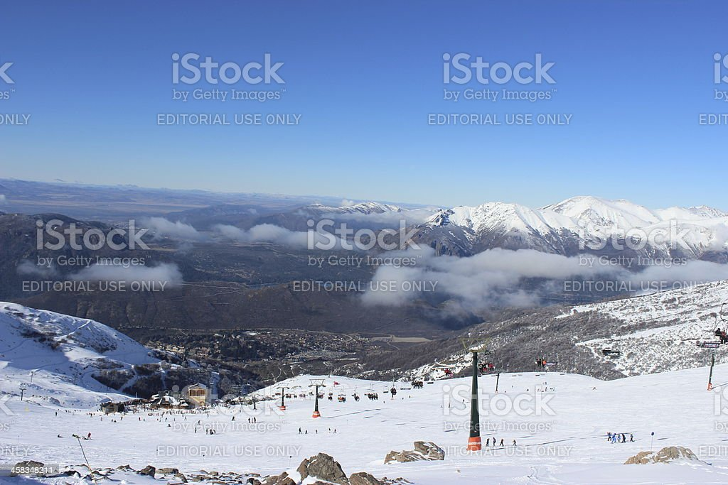 Ski Station at Andes mountains - Patagonia Argentina royalty-free stock photo