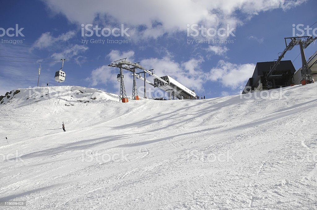 Ski station royalty-free stock photo