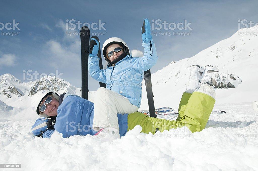 Ski, sun and fun royalty-free stock photo