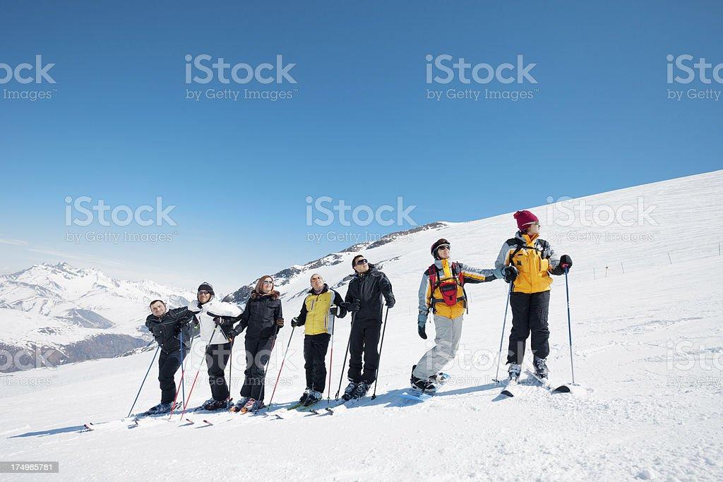 Ski  team royalty-free stock photo
