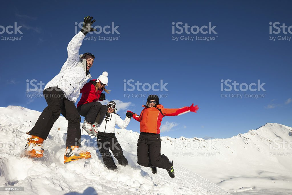 Ski  team royalty-free stock photo