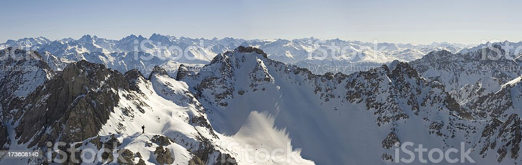 ski tour panorama royalty-free stock photo