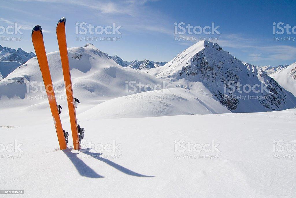 ski tour stock photo