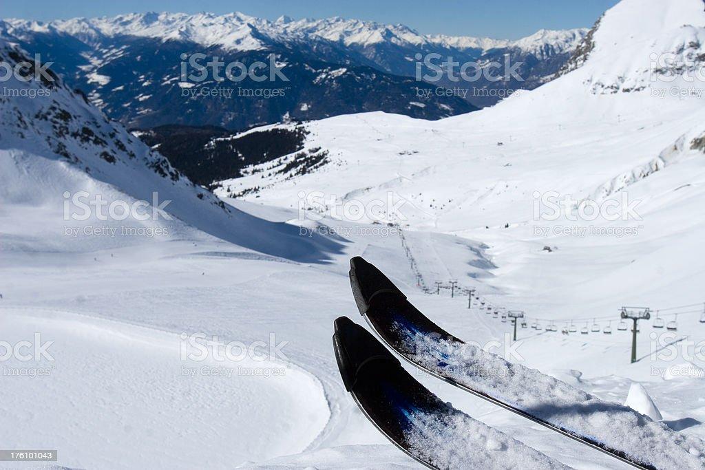 Ski Tour royalty-free stock photo