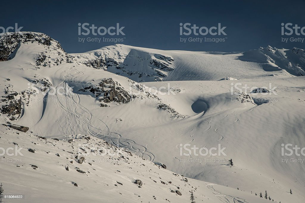 ski touring @ rogers pass stock photo