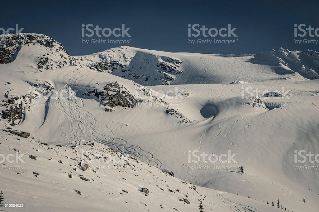 ski touring @ rogers pass stock photo