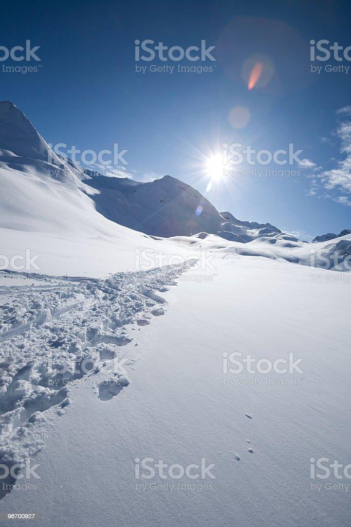 ski touring track royalty-free stock photo