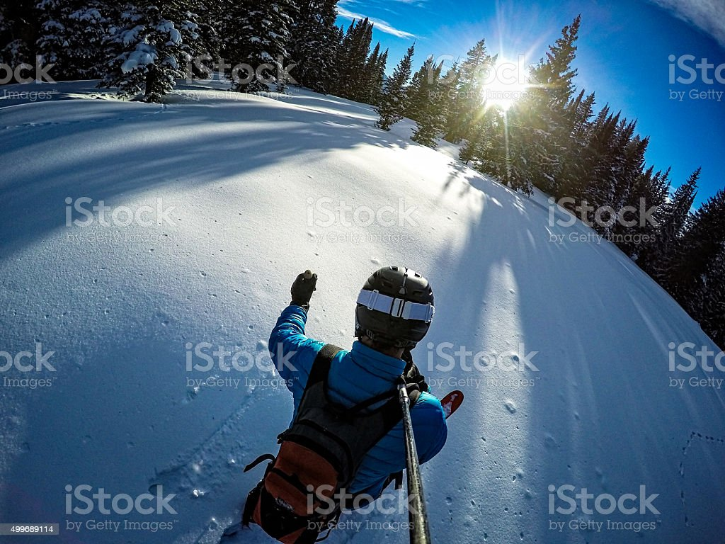 Ski Touring Vail Winter Backcountry stock photo