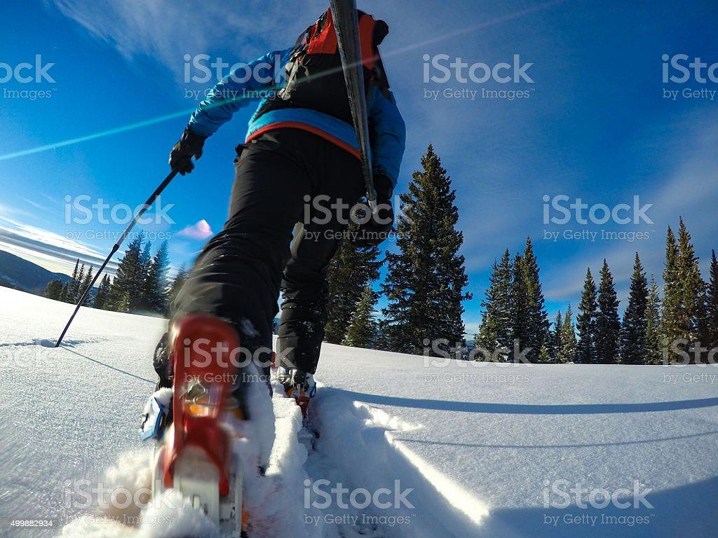 Ski Touring Vail Winter Backcountry stock photo