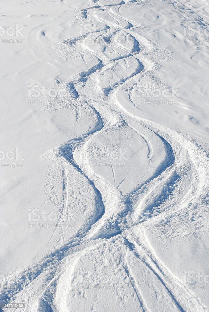 ski trace stock photo