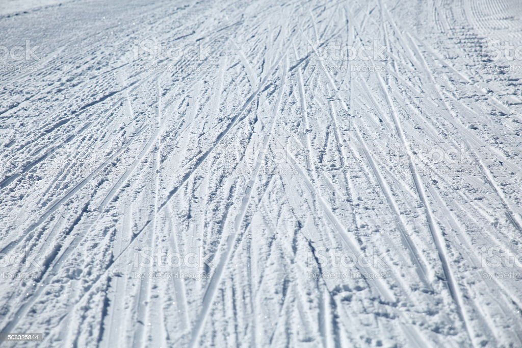 Ski Track Pattern stock photo