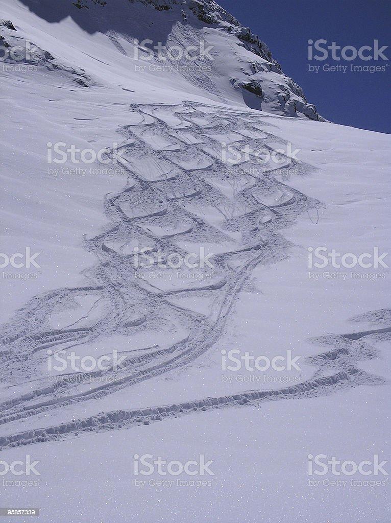 Ski tracks - what a feeling! royalty-free stock photo