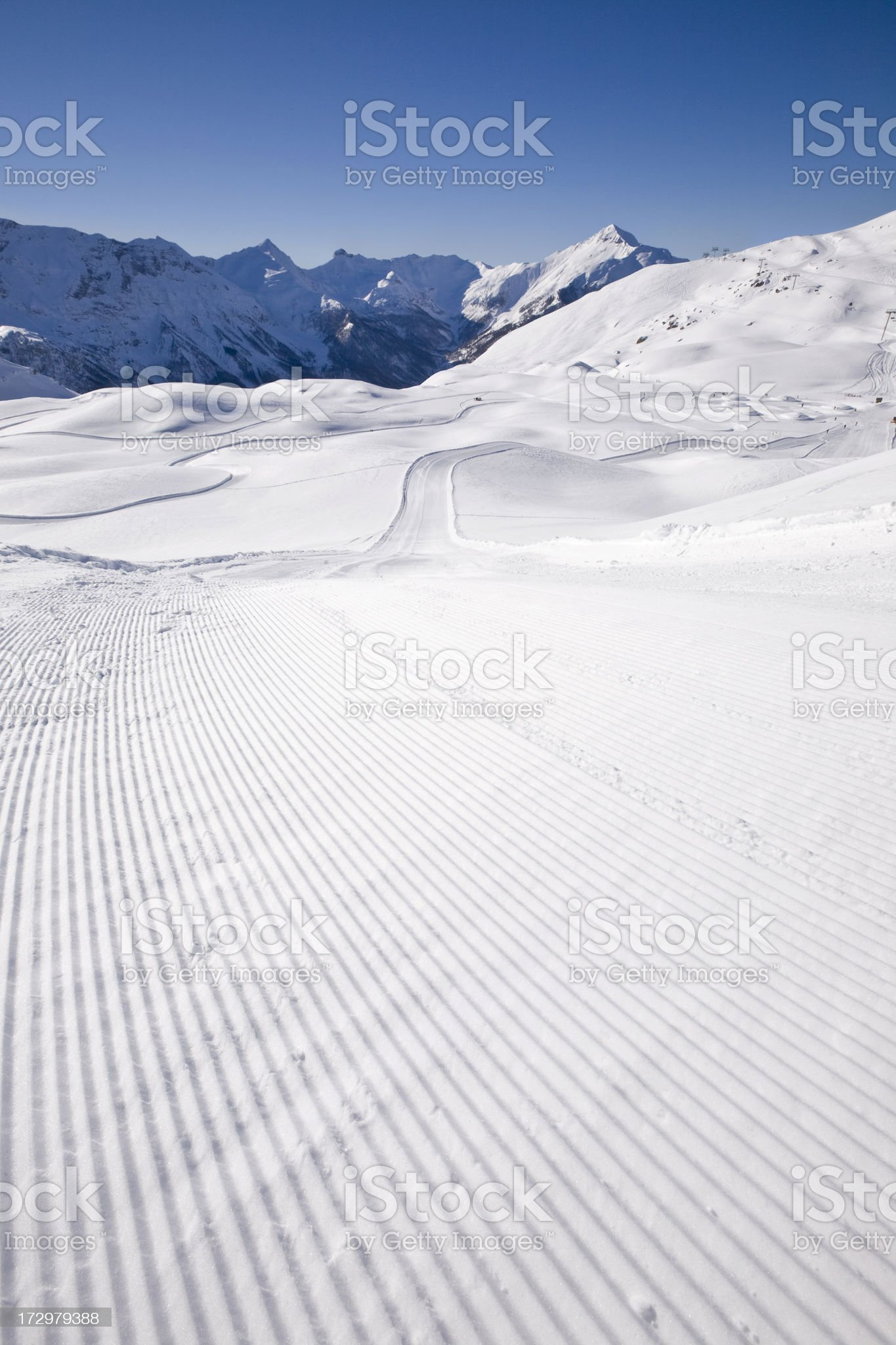 Ski Trail royalty-free stock photo