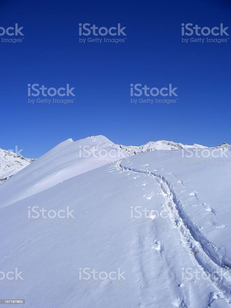 ski traks royalty-free stock photo