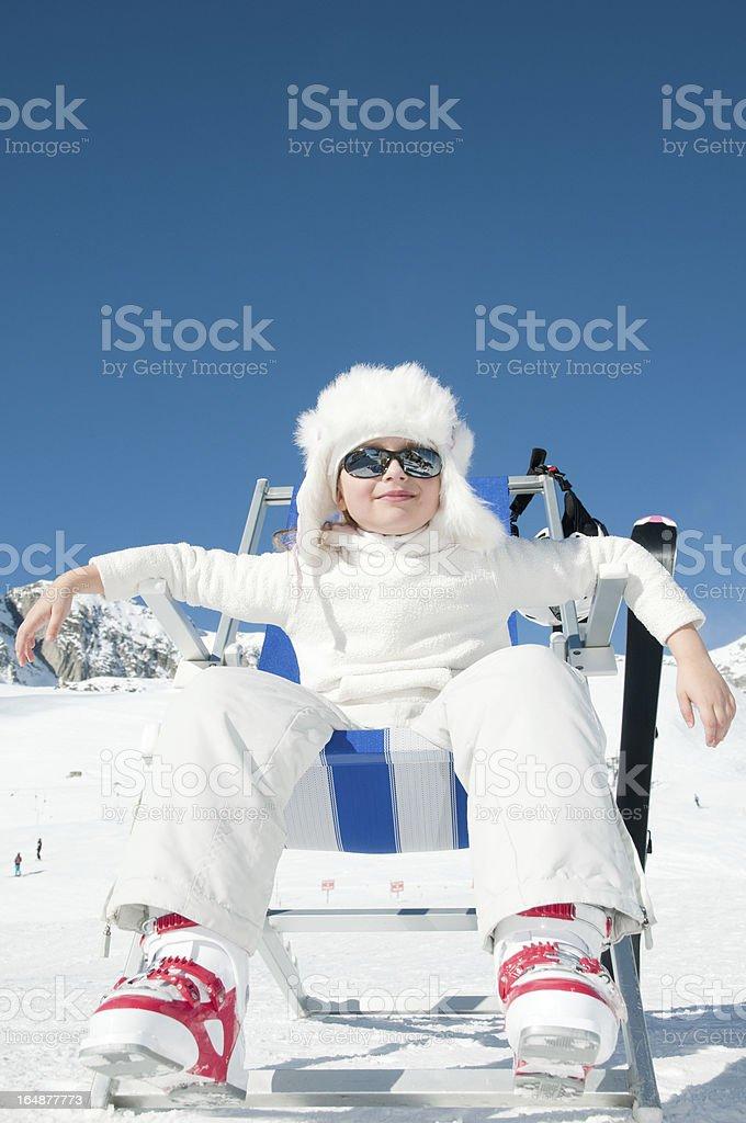 Ski vacation royalty-free stock photo