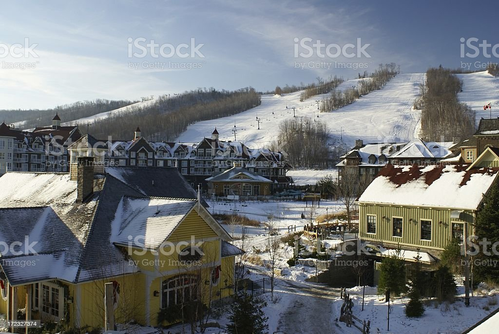 Ski Village stock photo