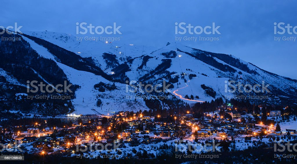 Ski Village, San Carlos de Bariloche, Argentina stock photo