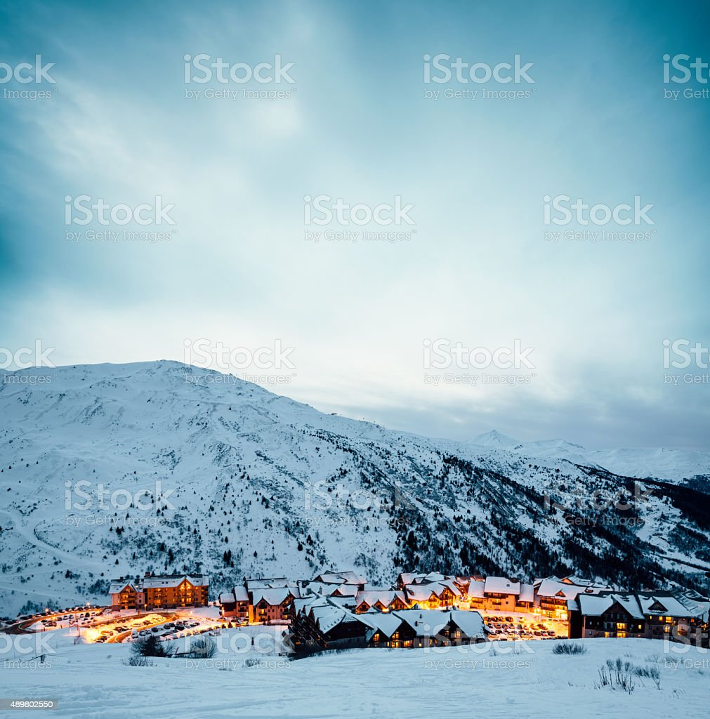 Ski Village Valmeinier In France stock photo