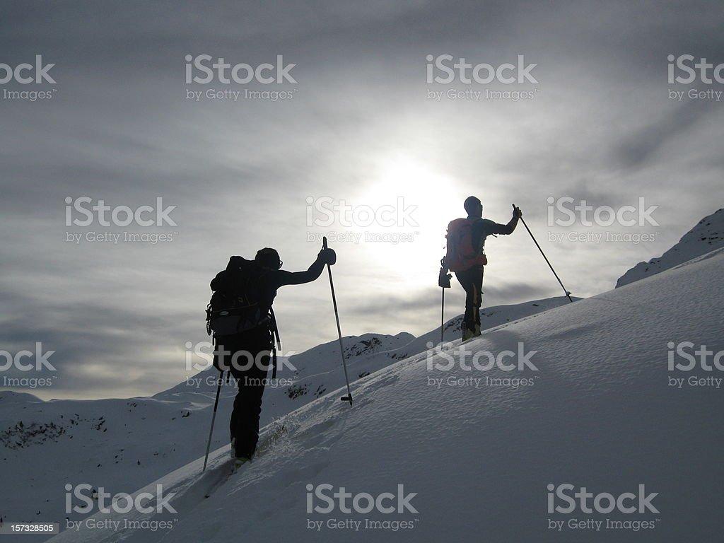Ski Walking royalty-free stock photo