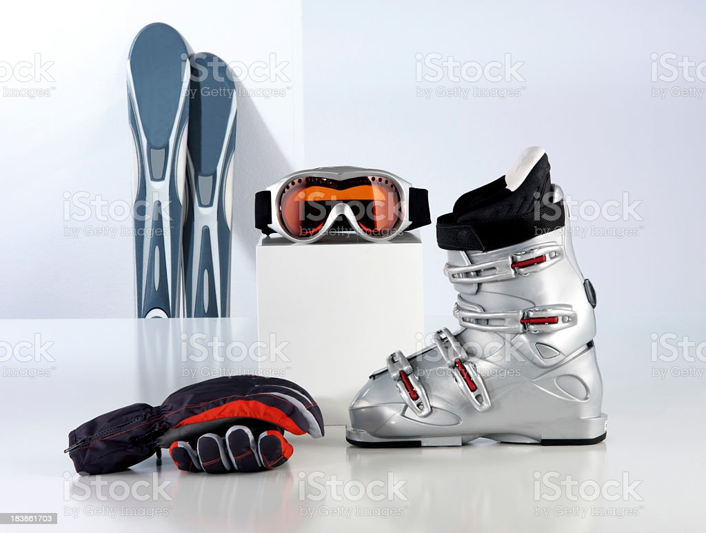 Ski Wear Equpment stock photo