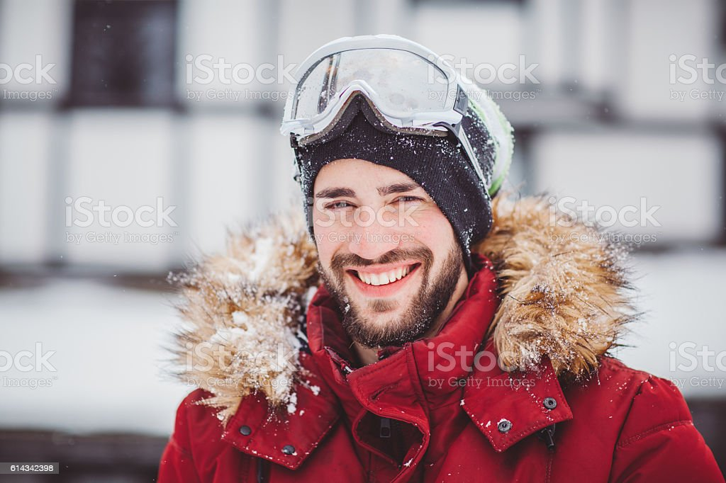 Ski weekend can start stock photo