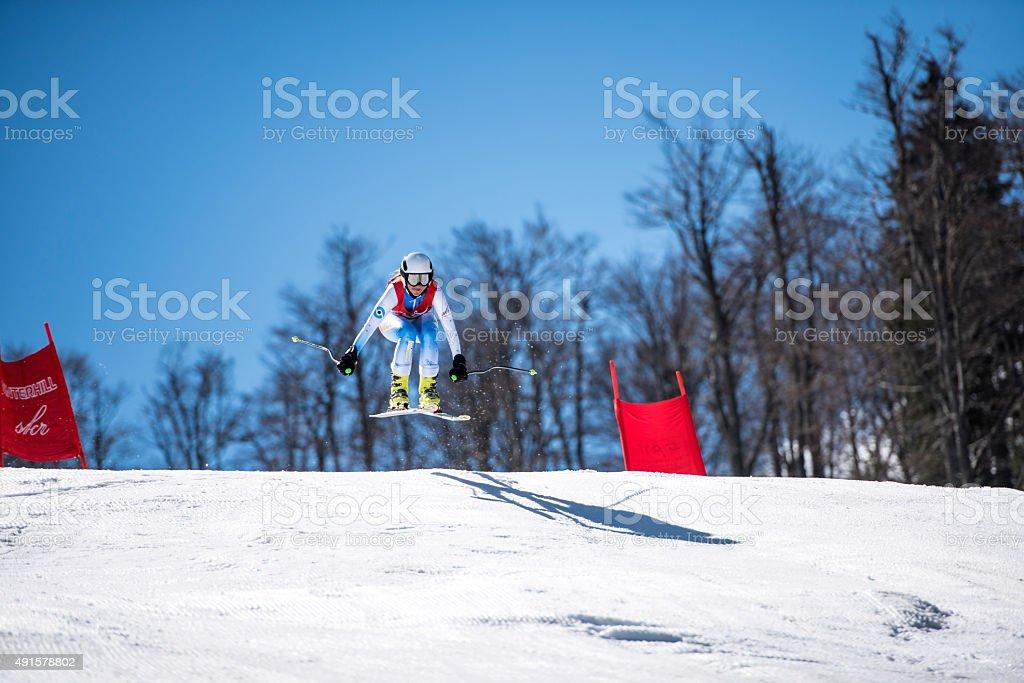 Ski world cup stock photo
