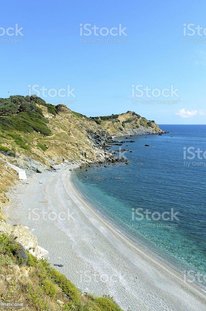 Skiathos coastline cliffs royalty-free stock photo
