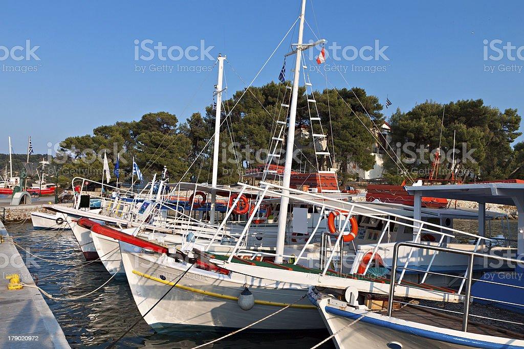 Skiathos island in Greece royalty-free stock photo