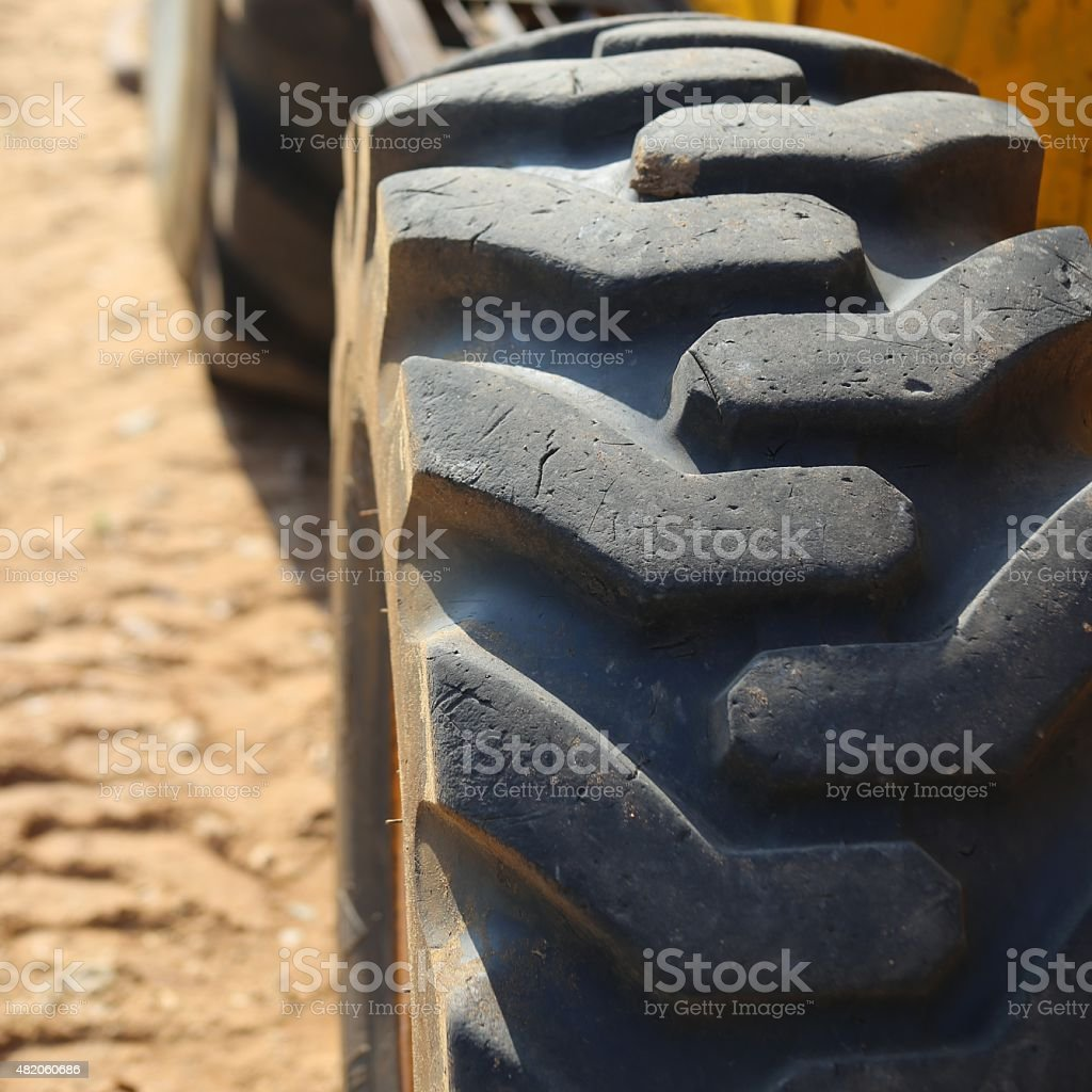 Skid Loader Tire stock photo