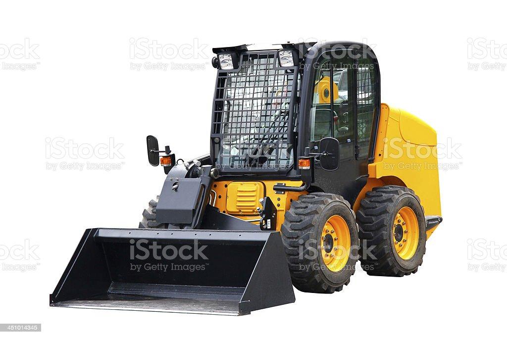 Skid steer loader stock photo