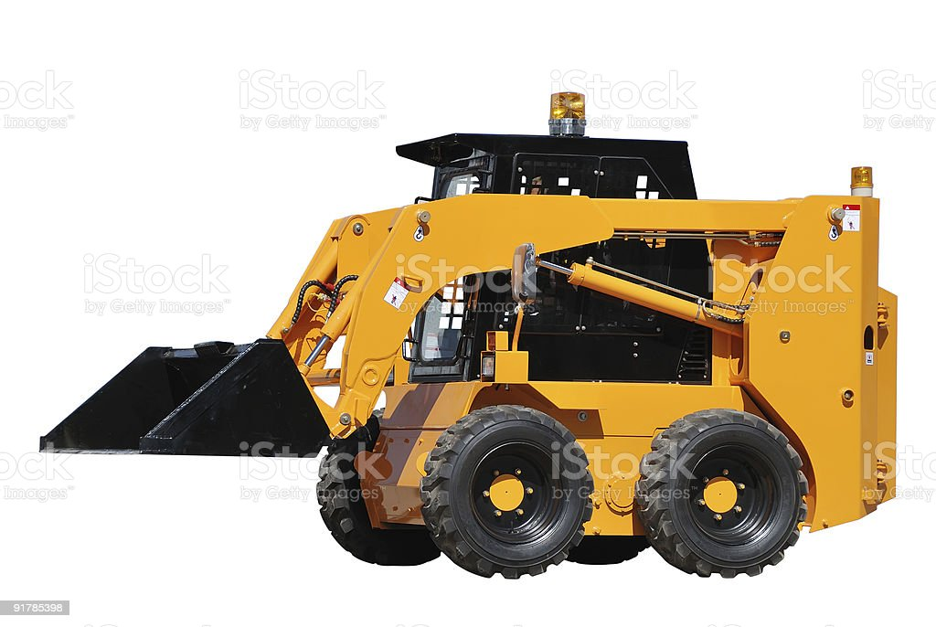 skid steer loader (isolated) royalty-free stock photo