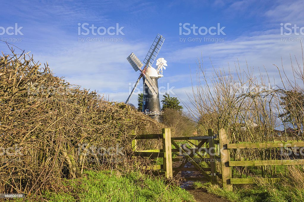 Skidby windmill, near Beverley, Yorkshire, UK. stock photo