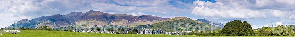 Skiddaw and Keswick, Lake District, UK stock photo