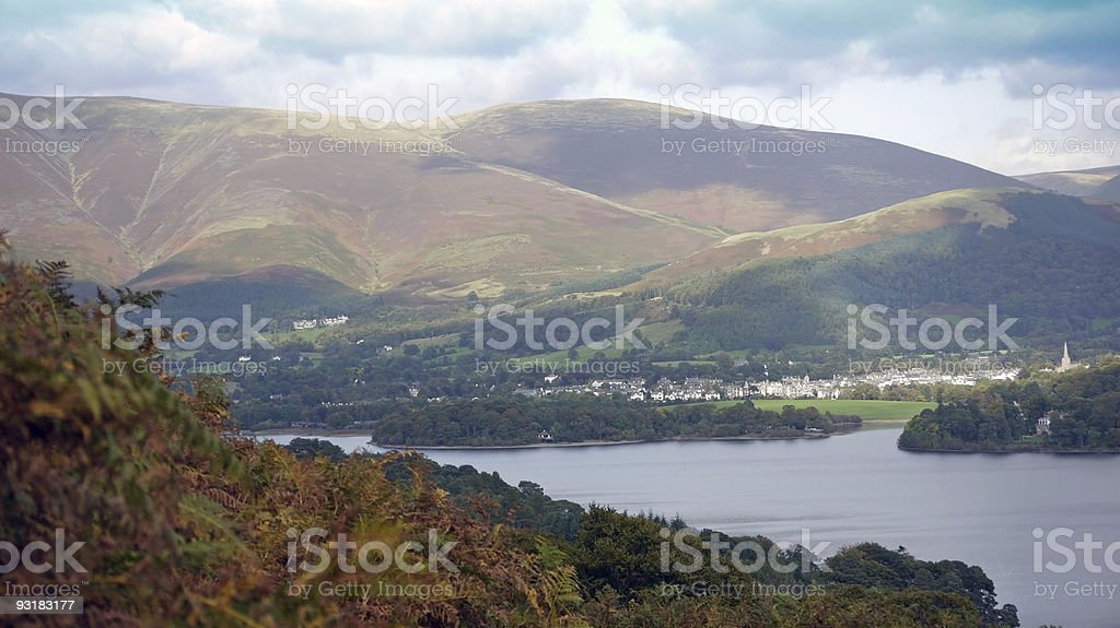 Skiddaw from Catbells. stock photo