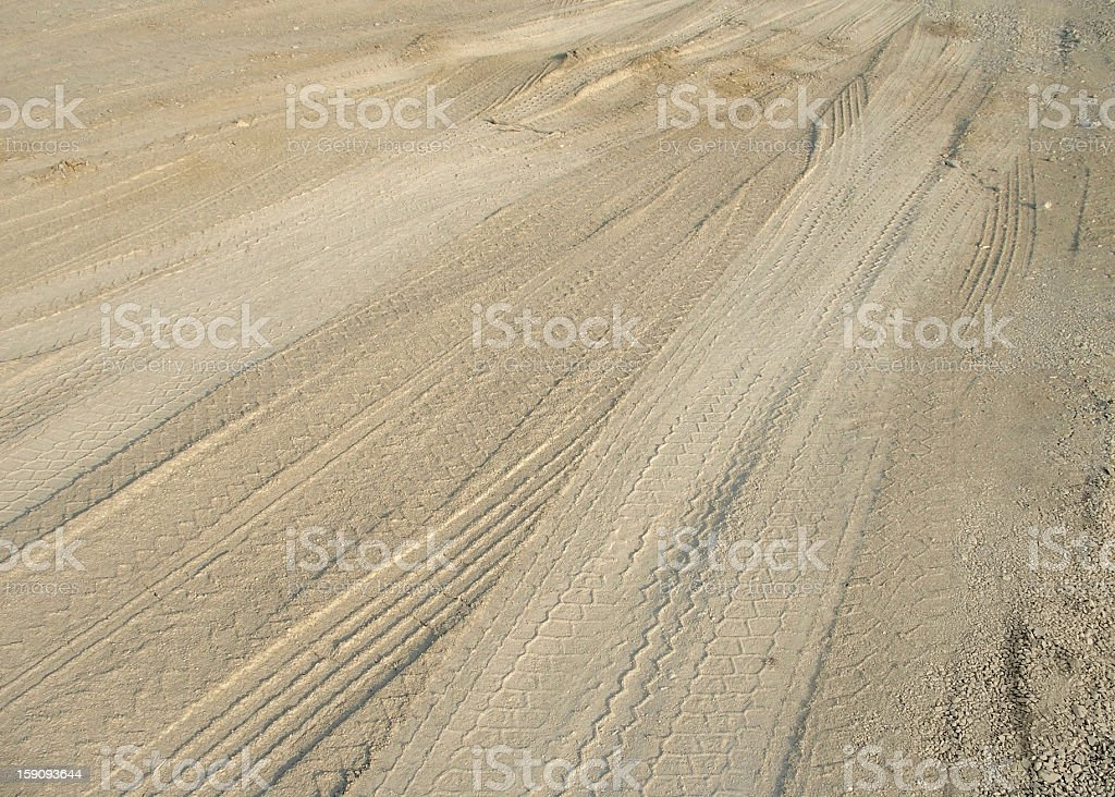 skidmarks in the ground royalty-free stock photo