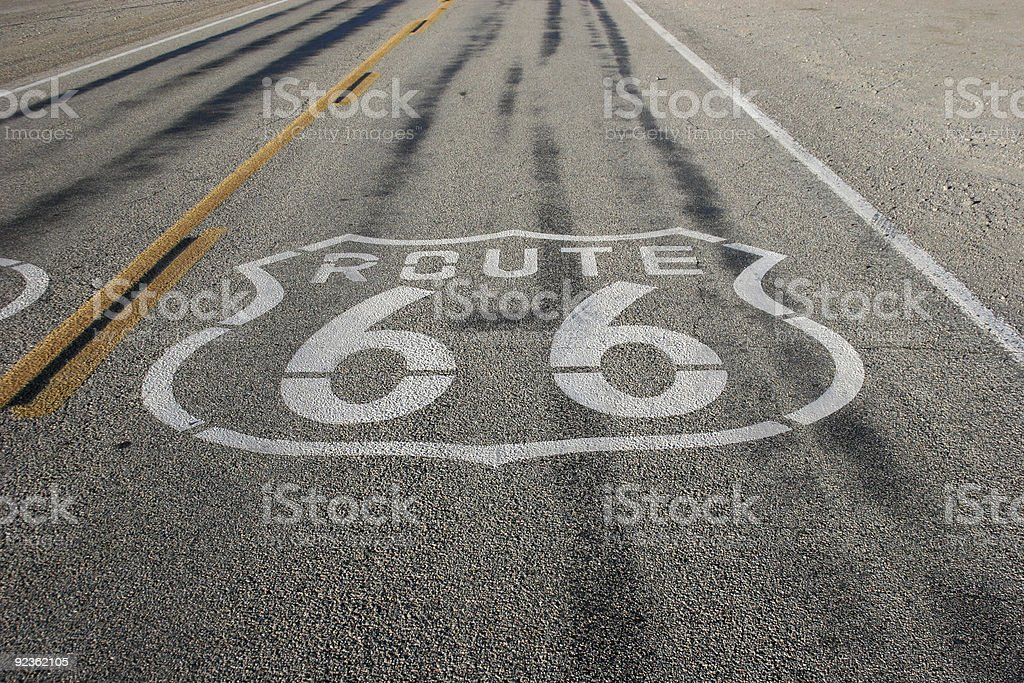 Skids Route 66 royalty-free stock photo