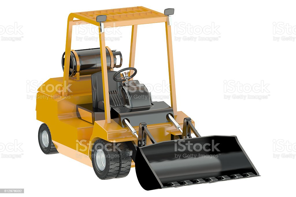 Skid-steer loader stock photo